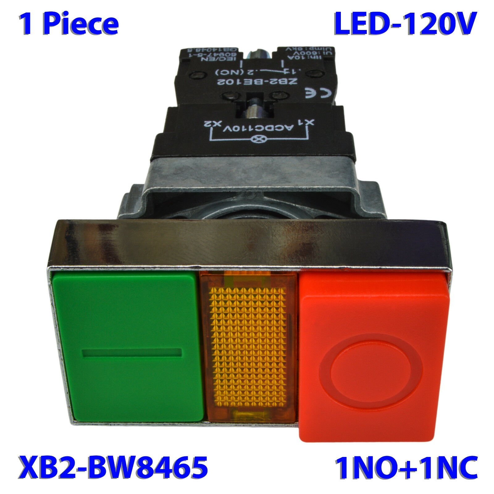 2 Pcs Xb2 Bw8465 Double Push Button Switch Start Stop Momentary Is Using A To Power Ignition And Norton Secured Powered By Verisign