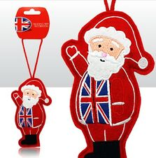 Elgate BRITISH UNION JACK SANTA Plush Christmas Tree Hanging Decoration Ornament