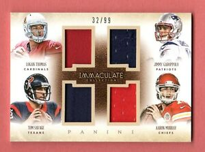 best sneakers 279a2 d57c0 Details about JIMMY GAROPPOLO SAVAGE THOMAS MURRAY 2014 IMMACULATE QUAD  JERSEY ROOKIE RC # /99