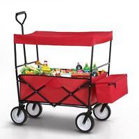 Utility Collapsible Child Garden Folding Wagon Cart Shopping Sports Beach P2r5
