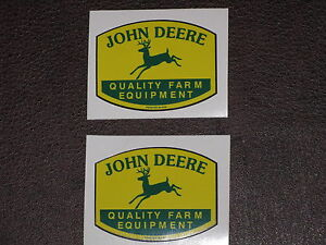 JOHN DEERE  SMALL QUALITY FARM EQUIPMENT 2 STICKERS