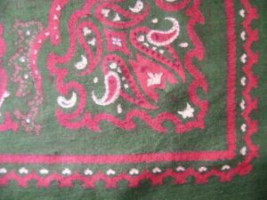 French-Actress-Estate-Vintage-Huge-PAISLEY-Twill-SILK-Scarf-34-034-HR-50s-60s