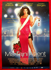 Miss Congeniality 2000 Sandra Bullock Michael Caine B Bratt Serbian Movie Poster Ebay