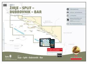 Bar Montenegro Karte.Details About Dk Satz 8 Mittelmeer Adria 2 Kroatien Zirje Bis Bar Montenegro Boot Karte