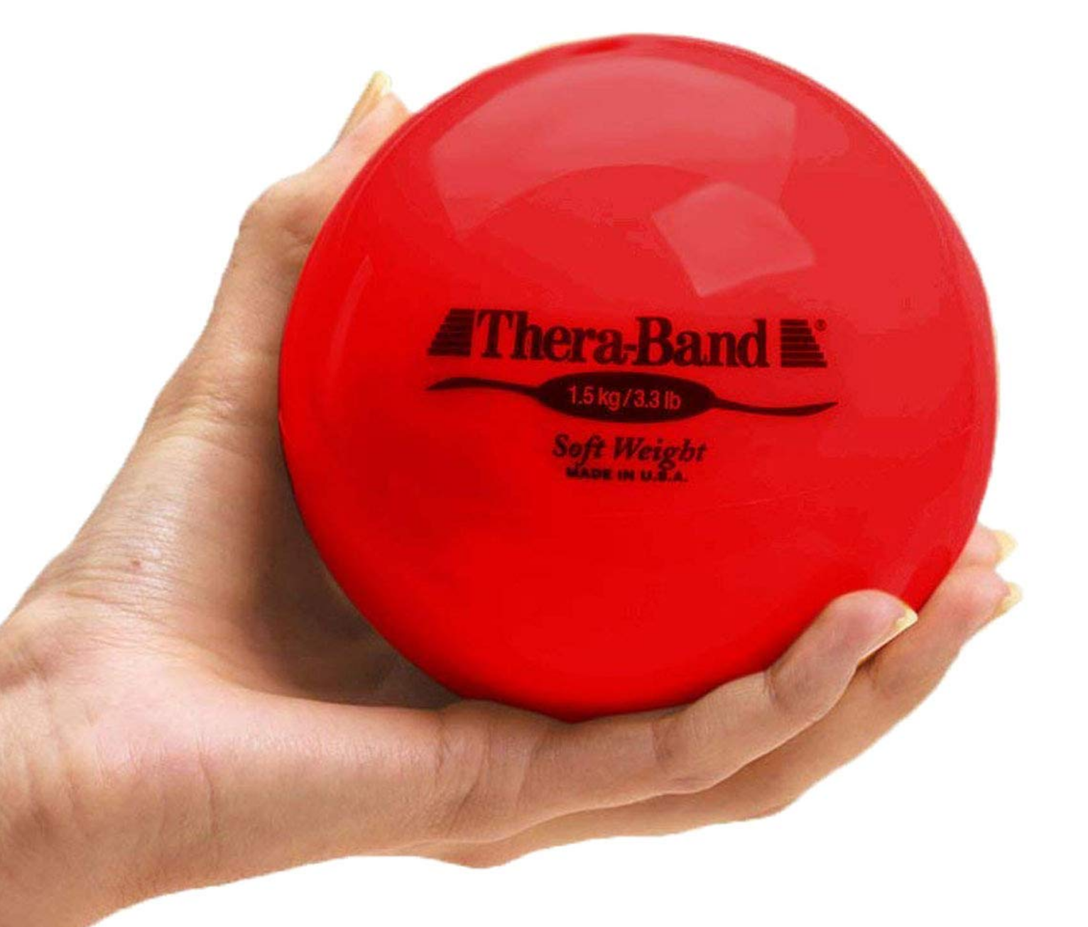 Tan Ball Weight .5 kg TheraBand Soft Weight 1.1 Lbs