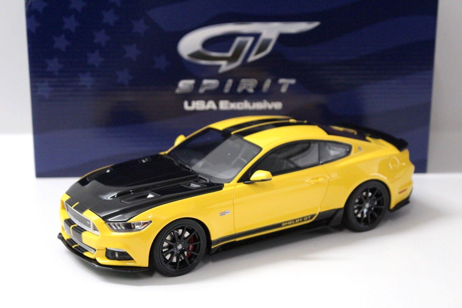 1 18 GT Spirit Shelby GT 2015 jaune  États-Unis Exclusive  NEW chez Premium-modelcars