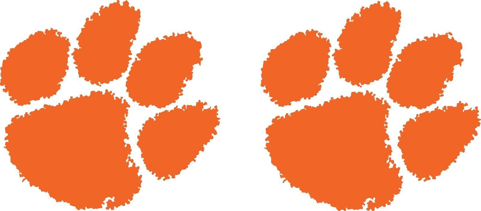 Clemson Tiger Orange Paw Prints Tigers Pair for Cornhole Board ...