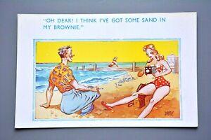 R-amp-L-Postcard-Blonde-Bathing-Beauty-Photographer-Kodak-Box-Brownie-Camera