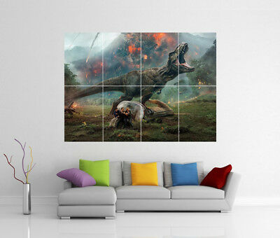 JURASSIC WORLD T-REX GIANT WALL ART PRINT POSTER