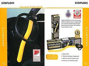 stoplock professional steering wheel lock anti theft ebay. Black Bedroom Furniture Sets. Home Design Ideas