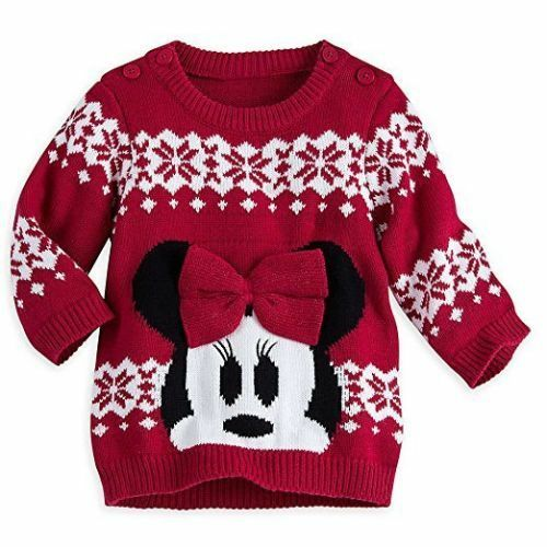47932870d Disney Minnie Mouse Red Holiday Christmas Sweater for Baby 0-3 ...