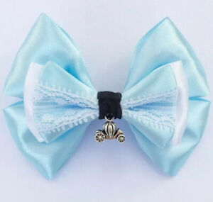 Disney Princess Hair Bow Bobbles Cindirella Dress Fabric Hairband Costume Band