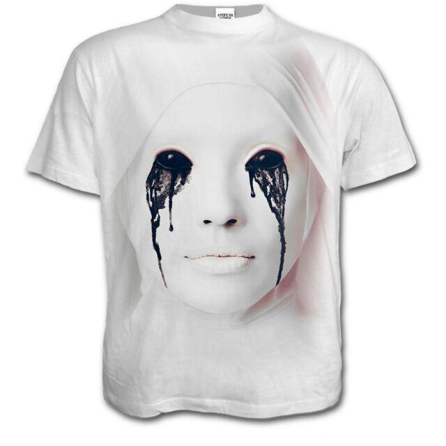 bba61ff8ec4a Spiral Direct X American Horror Story White Nun Asylum T Shirt Scary ...