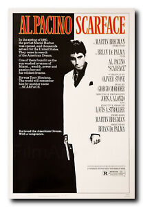 """SIZE: 24/"""" X 36/"""" REGULAR STYLE SCARFACE FRAMED MOVIE POSTER // PRINT"""