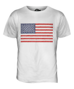e6de7364 Details about USA SCRIBBLE FLAG MENS T-SHIRT TEE TOP GIFT UNITED STATES  AMERICA