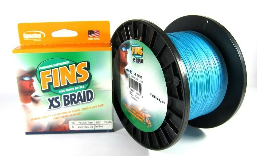 Sale Fins XS Extra Smooth 8 Ply Braided Spectra Line 80lb 1200yds blu 0843