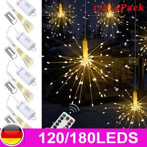 4X-LED-Feuerwerk-Licht-Lichterkette-Weihnachten-Wasserdicht-Beleuchtung-Hochzeit