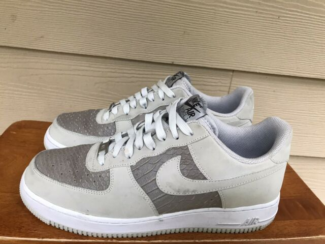 Nike Air Force 1 Low Light Ash Grey 488298-055 Men's Sneakers Shoes Size 8.5
