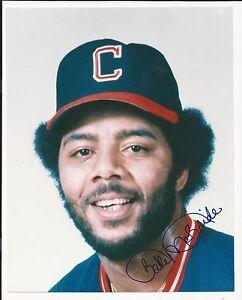 Bake McBride Cleveland Indians Signed Auto 8x10 Photo Autograph