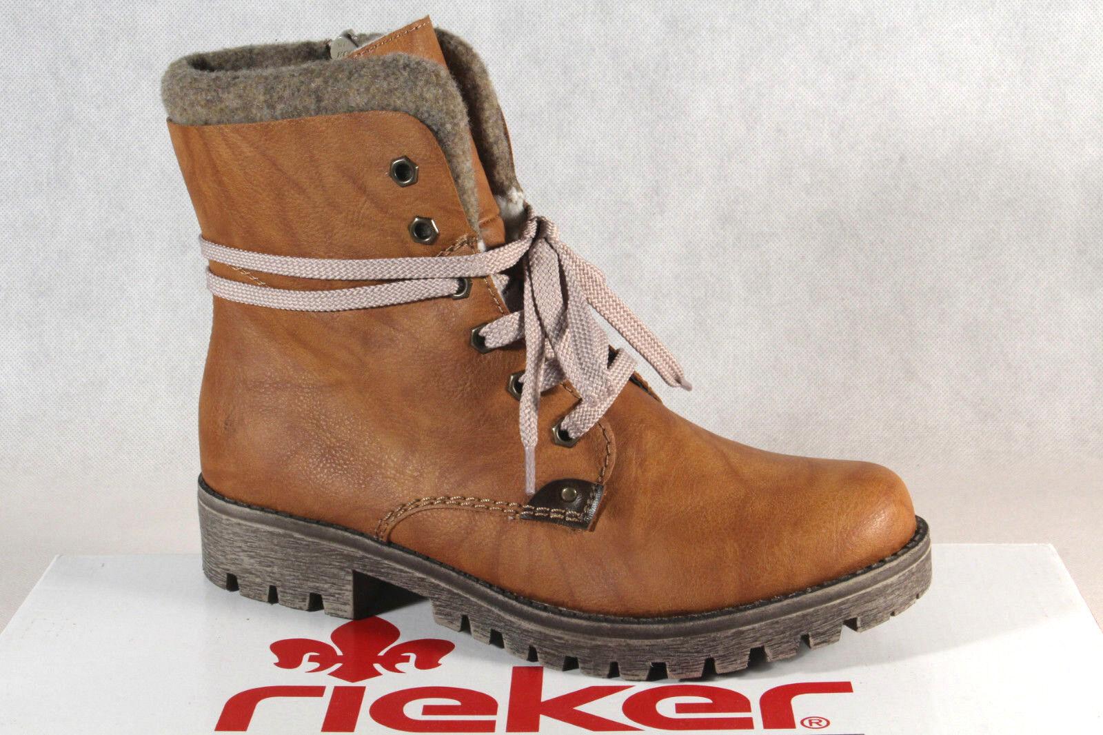 Rieker botas Mujer Mujer Mujer Botines botas de Cordón Marrón 785F5 Nuevo f05ff0