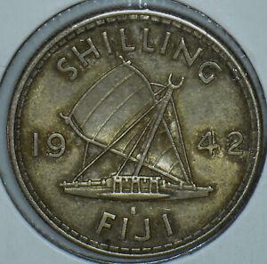 Fiji 1942 Shilling 290798 combine shipping