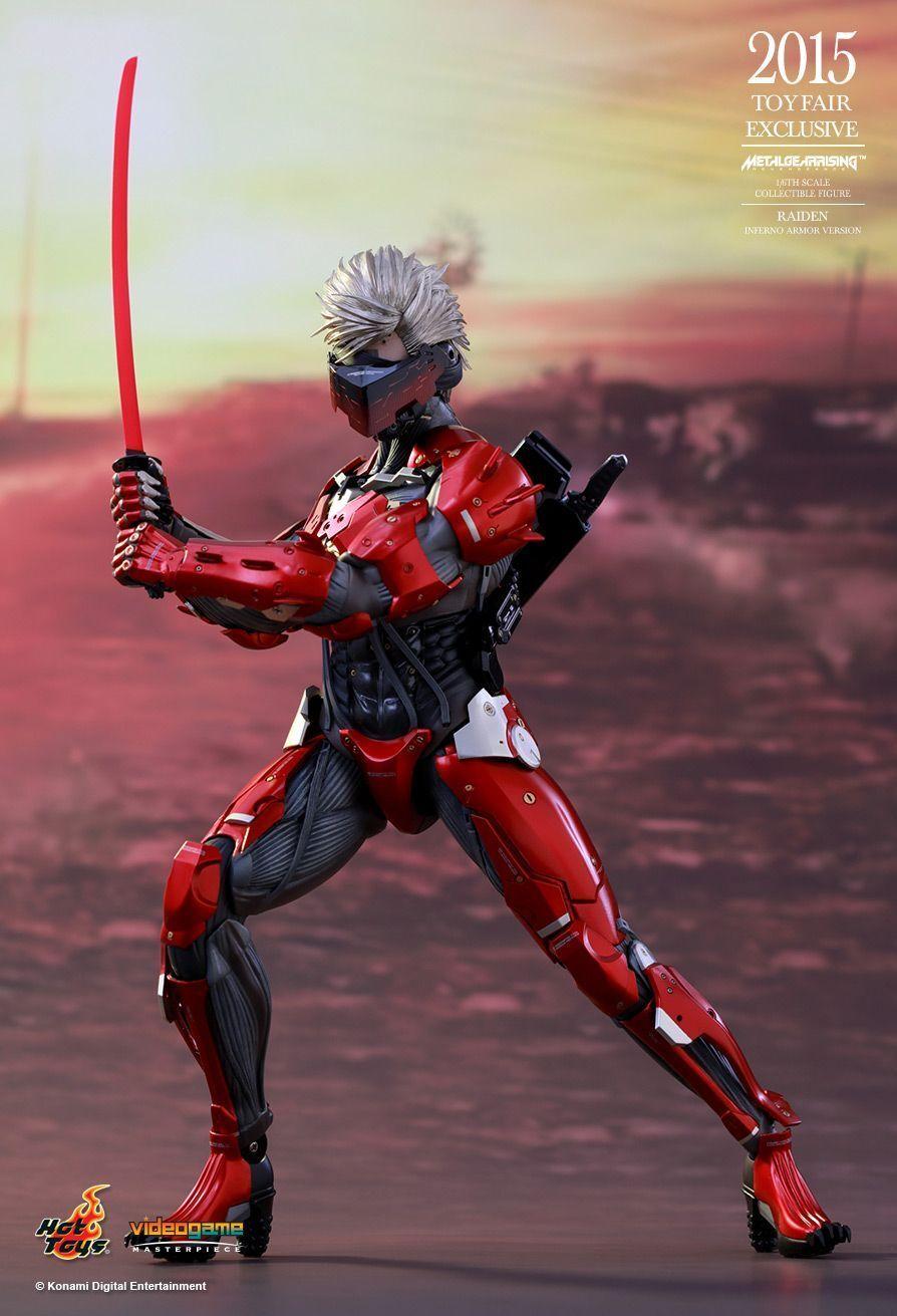 Metal Gear Rising-Raiden Inferno Armadura 16th acción figura VGM19 (Hot Toys)