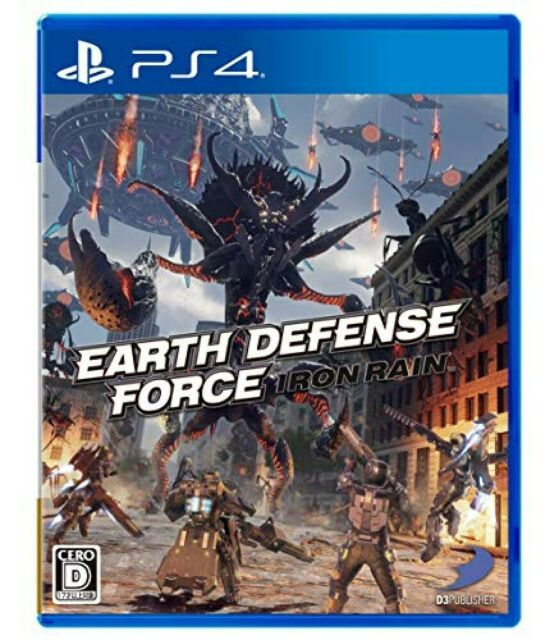 Used PS4 EARTH DEFENSE FORCE: IRON RAIN JAPAN OFFICIAL IMPORT