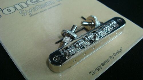 "Bridge small posts, ""Roller"" saddles Nickel TP6R-N TonePros Standard T.O.M"