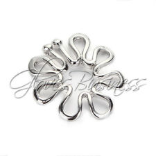 316L Stainless Steel Non Piercing Clip On Flower Designing Nipple Ring 10mm