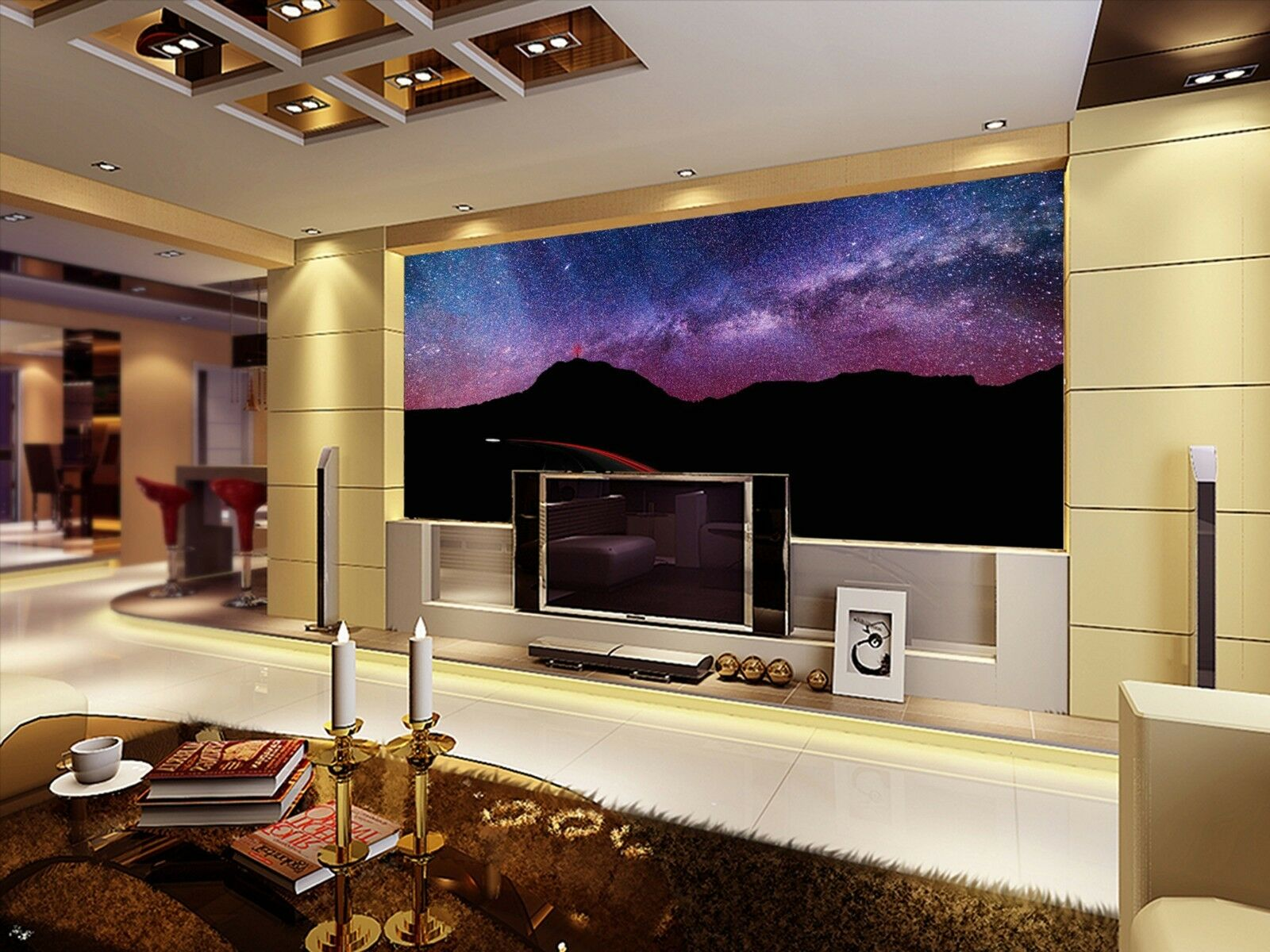 3D Star Mountain 3785 Wall Paper Wall Print Decal Wall Indoor Murals Wall US