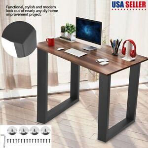 Details About 2pcs Set 17 28 Industry Rectangle Dinner Table Leg Metal Steel Bench Legs Diy