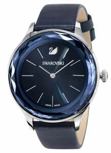 Swarovski-Octea-Nova-Acier-Inoxydable-Bleu-Cadran-Cuir-Montre-Femmes-5295349