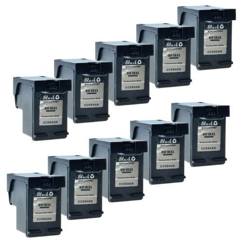 Reman 901-XL Black CC654AN For HP 901XL 901 Ink OfficeJet J4624 Cartridge 10Pack
