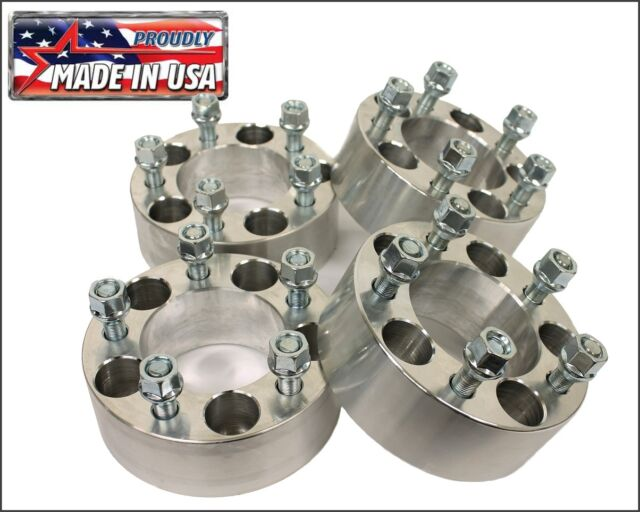 """4 pcs Jeep Wrangler JK or Rubicon Wheel Spacers 2"""" 5x5 6061 T6 Made in the USA"""
