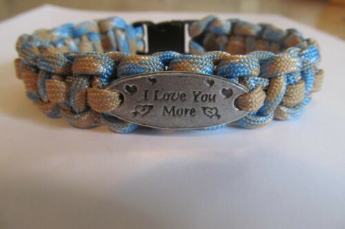 I Love You More Charm Paracord Bracelet - handmade