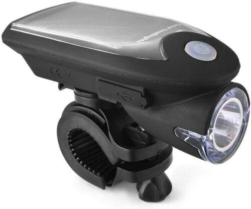 Solar Power Bicycle Light Set USB Rechargeable Bike Lights Front Back LED Lamp
