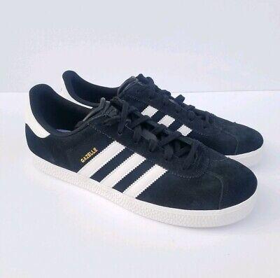 Adidas Gazelle Black Suede White Stripes Big Kids 7 S32247 womens 9   eBay