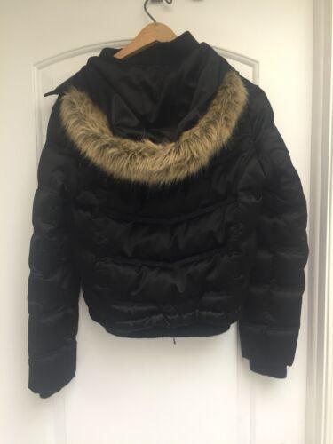 Puffer Small Hooded Faux Frakke 885873195851 Med Fur Size Black Kvinders HU7wq8WcEB