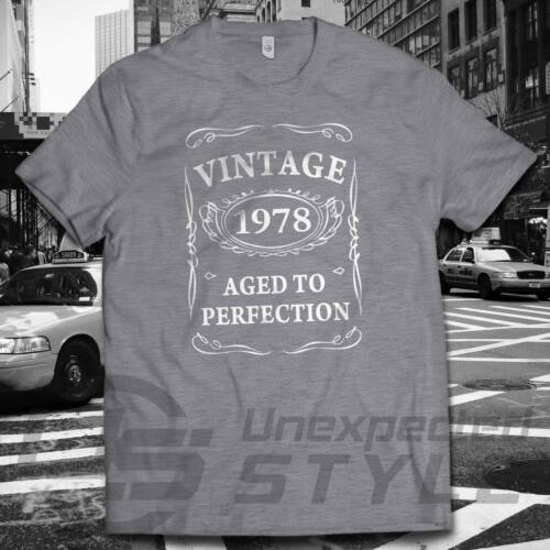 40th Birthday VINTAGE 1978 AGED TO PERFECTION T-shirt Present Gift 40 years old