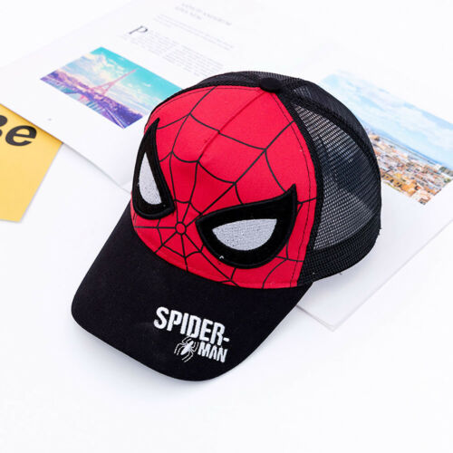 Boys Mesh Baseball Cap Kids Child Spider Man Embroidery Snapback Hat Sun Caps