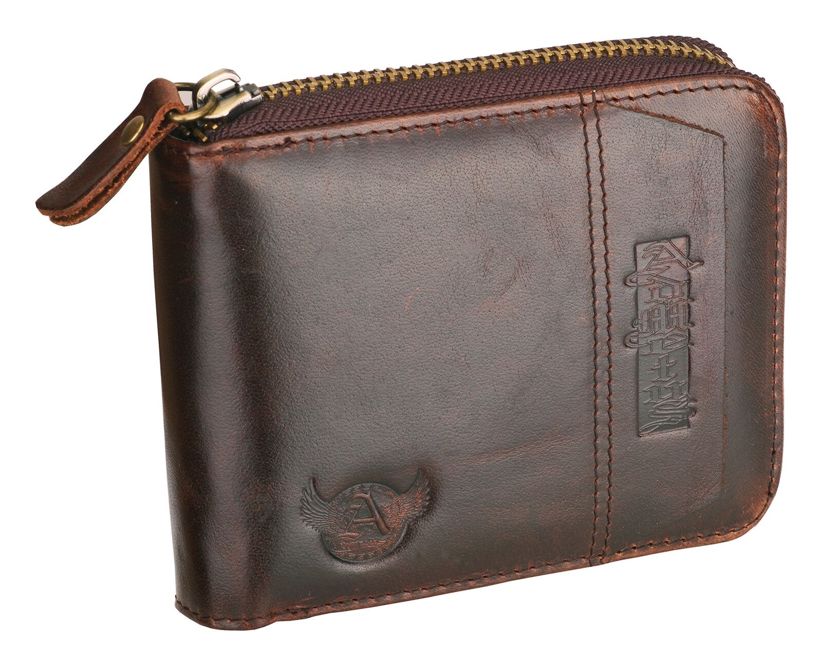 ADEDIY Custom Wallet Douglas-Grey-Tartan Mens Leather Wallet Purse M1612