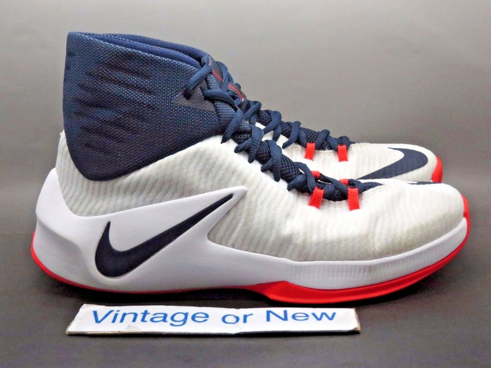 Men's Nike Zoom Clear Out White Obsidian Basketball Shoes 2018 sz 10