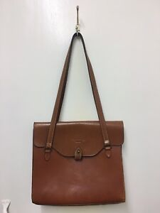 footwear 2018 shoes hot sale Authentic Vintage Mulberry Tan Brown Leather Shoulder Bag ...
