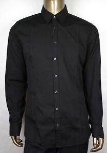 f83a22515732 New Authentic Gucci Men's Black Cotton Slim Shirt 38/15 307656 1000 ...