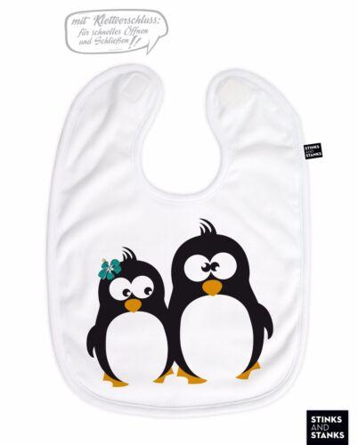 Babero Baby kleckerlatz pingüino con nombre de deseos