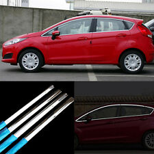 16pcs New Stainless Steel Door Window Frame Sill Molding Trim For Ford Fiesta