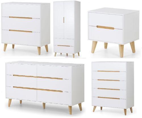 Alicia  retro-inspired Bedroom Furniture Range Wardrobes Bedsides Chests
