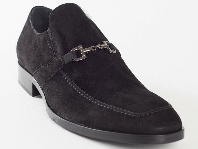 New  Manali Black Suede Leather Made in  shoes Size 43 US 10