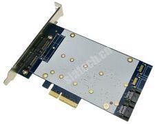 2port SATA III+2ports NGFF(m.2) PCI-E express X4 adapter Card Marvell 88SE9235