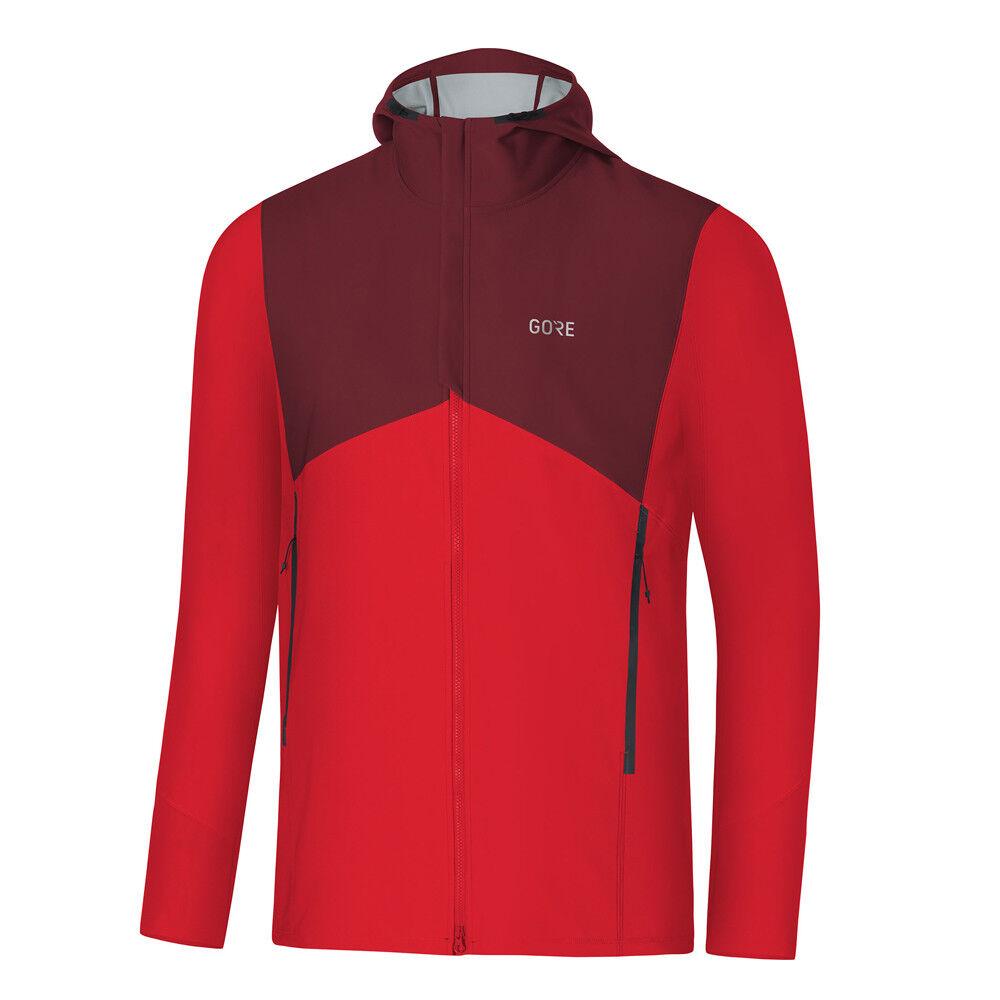 Gore Wear R3 Gore Windstopper Hooded Jacket rot Chestnut rot Herren Laufjacke
